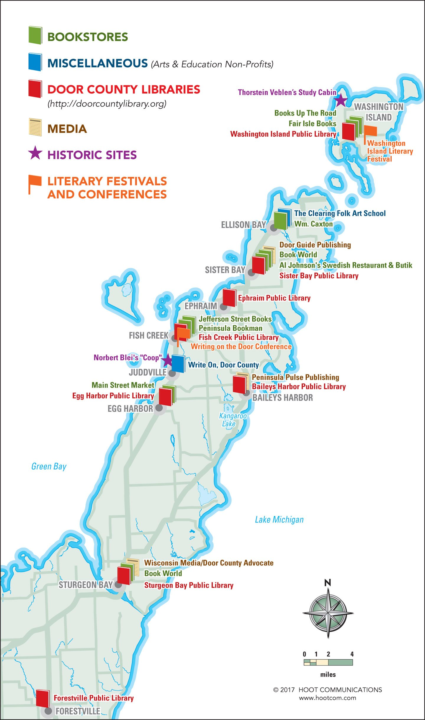 2017 Books Map  sc 1 st  MAPS u2013 Door County Today & MAPS u2013 Door County Today