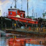 Lee Radtke Exhibit and Reception for New Paintings of Ships in Sturgeon Bay Harbor