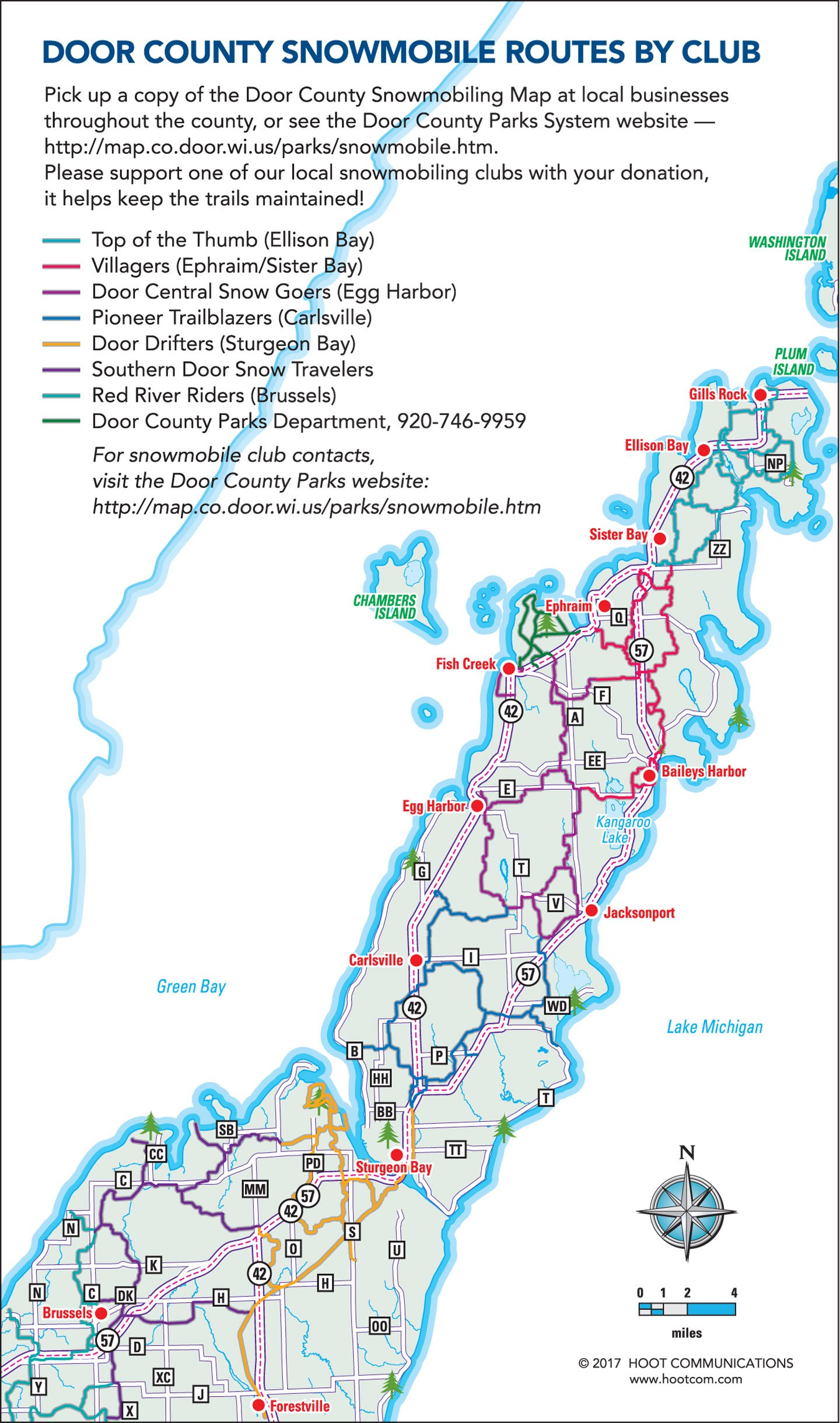 2017 Snowmobiling Map